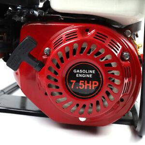 Portable 7.5HP 4-Stroke Gasoline Gas Powered Water Transfer Pump Irrigation 3.6L