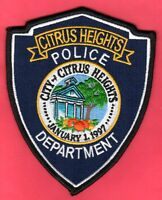 Citrus Heights California Police Shoulder Patch  VR. 1