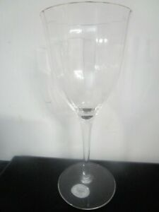 Set of 8- Gorham Laurin Gold Water Glasses - Gold Trim, Optic Bowl, Smooth Stem
