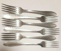Set of 6 Vintage Soviet Forks Stainless Steel USSR