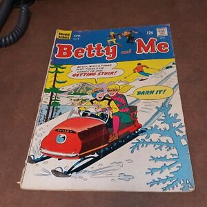 BETTY AND ME #7 archie comics 1967 DAN DECARLO ART SILVER AGE good girl classic