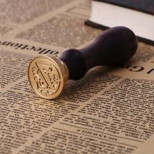 Retro Wood Stamper Sealing Wax Classic Initial Wax Seal Stamp Alphabet Letter 26 O