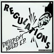 "REGULATIONS Different Needs 7"" EP PUNK ROCK Melodic Hardcore BLACK VINYL Neuronz"