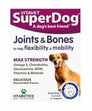 Vitabiotics SuperDog Joints + Bones, All in 1 Advanced Joint Health 30 Chewables
