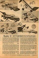 1953 ADVERT Buddy L Hi-Lift Truck Scoop N Dump Steam Shovel Marx Gas Station
