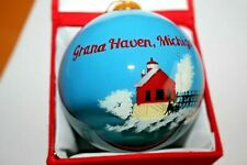GRAN HAVEN, MICHIGAN Glass Ball Ornament