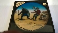 vintage glass magic lantern slide by the skin of his teeth