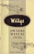 1955 Jeep Willys Model 6-226 Owners Manual User Guide Reference Operator Book OE