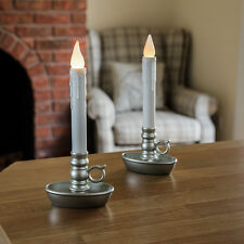 SET OF 2 INDOOR HOME BATTERY OPERATED 24CM WEDDING FLICKERING CANDLE LED LIGHTS