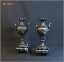 Paire de vases en régule époque XIXe