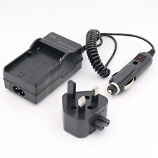 HOUSE AND CAR Battery MAINS Charger for SONY Cybershot DSC-W35 DIGITAL CAMERA UK