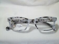 New Max Studio Womens Black Gray Marble Demi Reading Glasses Readers +2.50
