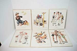 Lot Of 6 Norman Rockwell 8x10 Prints 1997 Northern Knights Fine Art Corp