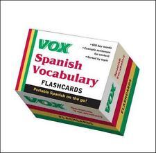 Vox Spanish Vocabulary Flashcards (NTC Foreign Language)  LikeNew