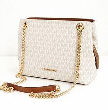 Michael Kors tasche bag jet set item chain md messenger vanilla neu
