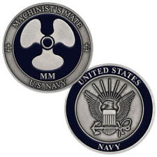New U.S. Navy Machinist's Mate (Mm) Challenge Coin.