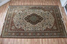 "Large Wool Rug 6'5""x10'4"". Traditional / Persian. Floral in beige/brown/green"