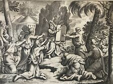 Moïse Tables de la Loi de Jacob Matham d'après Hendrick Goltzius 1606 - 1652