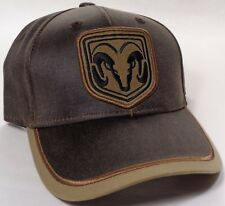 Hat Cap Dodge Ram Weathered Cotton Dark Brown Khaki OC
