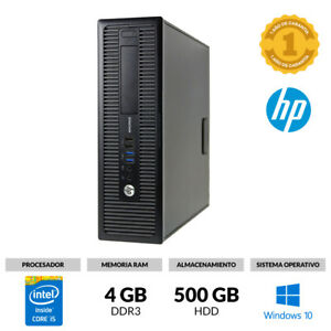 ORDENADOR SOBREMESA HP 800 G1 SMALL CORE I5 @ 2,90GHz 4GB RAM 500GB WINDOWS 10