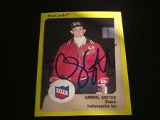 DARRYL SUTTER AUTOGRAPHED 1989 AHL PROCARDS INDIANAPOLIS ICE COACHES CARD