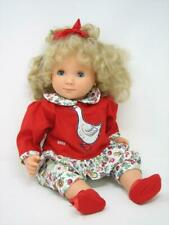 """Gotz Puppenfavric 214/16 Blond Curly Hair Blue Eyes 16"""" Germany EXCELLENT"""