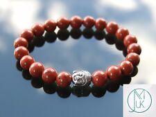 Buddha Red Jasper Natural Gemstone Bracelet 6-9'' Elasticated Healing Stone
