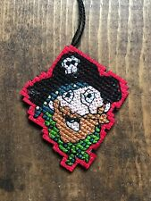 Handmade Cross Stitch Christmas Ornament-Pirate-Skulls-Ahoy-Sailor-Completed-New