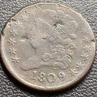 1809 Classic Head Half Cent 1/2 Cent VF Details #29039