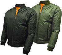 Mens MA1 Flight Bomber Pilot Jacket  - Security Military Combat Biker - D5