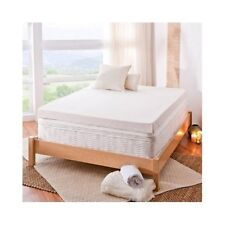 Twin XL Mattress Topper Memory Foam Pad Cover Protector Matress Bed White 4 Inch