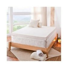 King Mattress Topper Memory Foam Pad Cover Protector Matress Bed White 4 Inch