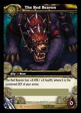 "WORLD OF WARCRAFT WOW TCG : THE RED BEARON ""Big Battle Bear"" LOOT CARD MOUNT NEW"