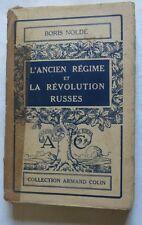 L'ancien régime et la révolution russes par Boris Nolde 1935