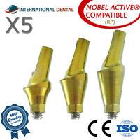 5 Anatomic Angular Abutment 15° (RP) Nobel Biocare Active Hex, Dental Implant