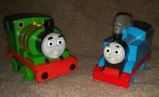 "Percy 5"" And Thomas The Tank Engine 5"" talking interactive large Rare lot of 2"