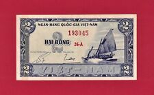 New listing Scarce South-Vietnam Note: Two 2 Dong 1955 (P-12a) 3d Issue, Printer: Sbnc (Usa)