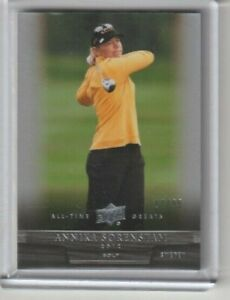 2012 UD All Time Greats Sports Annika Sorenstam Golf Card #'d 17/99