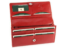 Visconti Large Multi Compartment Ladies Leather Purse Womens Wallet - Ht35 Red