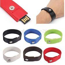 64GB Wrist Band Strap Bracelet USB 2.0 Flash Stick Memory U Disk Drive Storage