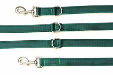 11ft Police Style Dog Training/Obedience Lead 25mm Cushion Webbing In Green