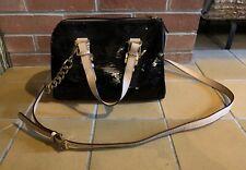 MICHAEL KORS Grayson Handbag Black Sequin Cross Body Satchel Leather Holiday NEW