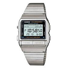 Casio Digital Casual Watch Data Bank Vintage Silver Mens Db-380-1d