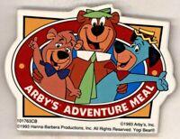 "1993  ARBY'S Adventure Meal YOGI     3 1/2""  Pinback Button"