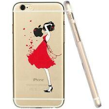 Coque gel souple incassable motif fantaisie pour iPhone 5 / 5S ( Robe Rouge )