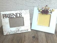 """Two (2) Frames - Friends"""" Picture Frame And Flower Picture Frame Home Decor"""