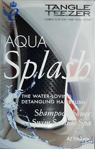 Tangle Teezer Aqua Splash The Water Loving Detangling Hairbrush Black Pearl.