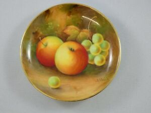 Lovely Royal Worcester Fruit Painted Pin Dish Signed A Shuck c.1938