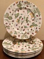 "Royal Stafford ALPINE STRAWBERRY Dinner Plate(s) 11"" Set of 6 England EUC"