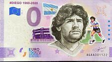 BILLET 0  EURO DIEGO MARADONA ARGENTINE ANNIVERSARY COULEUR 2021 NUMERO DIVERS